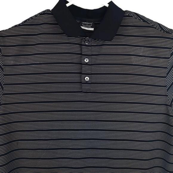 f8bdca33ab Nike Shirts   Golf Drifit Black Striped Polo Shirt Mens   Poshmark